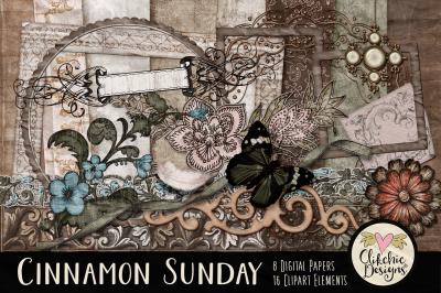Cinnamon Sunday Heritage Digital Scrapbook Kit