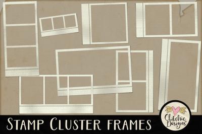 Stamp Cluster Frames Clipart