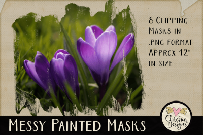Messy Painted Photoshop Clipping Masks & Tutorial