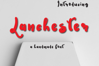Lanchester Typeface by watercolor floral designs