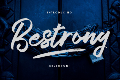 Bestrong Brush Font