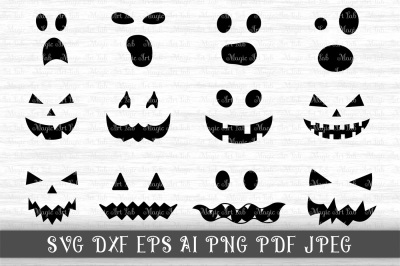 Halloween SVG, Jack of the lantern SVG, Pumpkin face SVG, Clipart