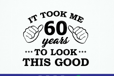 60th Birthday Vinyl T-shirt design