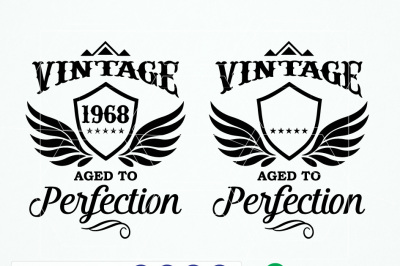 Vintage Birth Year Aged Perfection Shirt Design