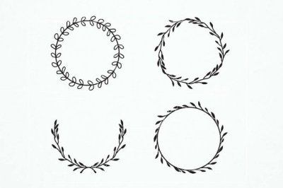 Vintage laurel wreath clipart. Laurel Wreaths Svg. Wedding Wreath