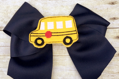 School Bus Oversized ITH Feltie | Applique Embroidery