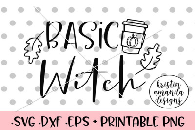 Basic Witch Halloween Fall Autumn SVG DXF EPS PNG Cut File • Cricut •