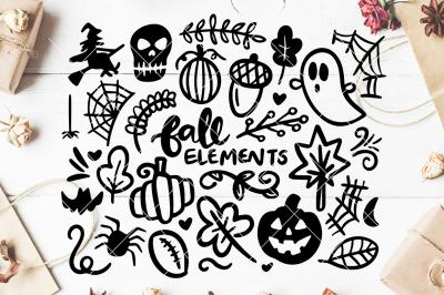 Fall/Halloween SVG Hand Drawn Graphics