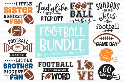 Football Bundle SVG DXF - 12 Designs