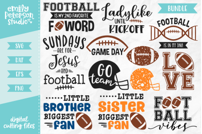 Football Bundle SVG DXF - 12 Designs