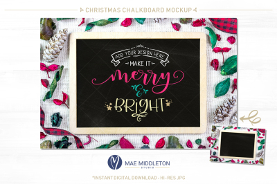 Christmas Chalkboard Mock up