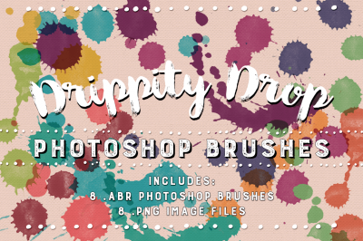 Drippity Drop Textured Photoshop Brushes