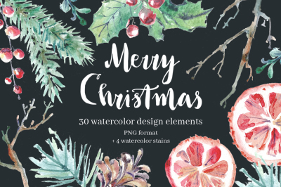 Merry Christmas elements collection