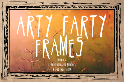 Arty Farty Frames & Photoshop Brushes