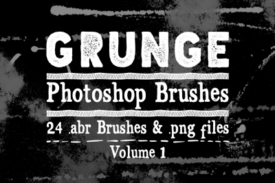 Grunge Photoshop Brushes Vol 1 - Texture Brushes