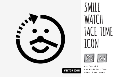 Smile watch face time icon