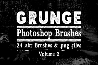 Grunge Photoshop Brushes Vol 2 - Texture Brushes