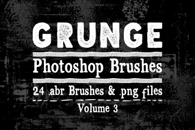 Grunge Photoshop Brushes Vol 3 - Texture Brushes