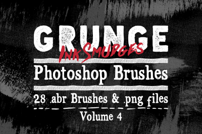 Ink Smudges Grunge Photoshop Brushes Vol 4 - Texture Brushes