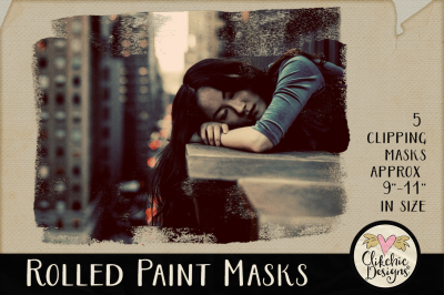 Rolled Paint Photoshop Clipping Masks & Tutorial