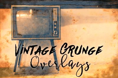 Vintage Grunge Texture Overlays