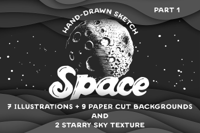 Hand drawn space collection