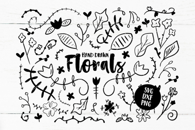 Hand Drawn SVG Floral Graphic Pack