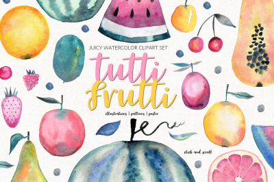 Tutti Frutti Watercolor Set