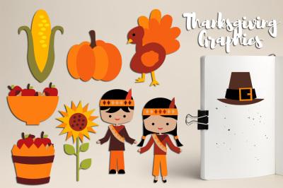 Thanksgiving Blessings, Harvest time clipart