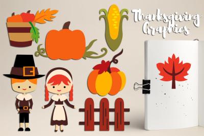 Thanksgiving graphics, Pilgrim, Amish Kids, Pumpkins