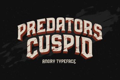 Predators Cuspid font