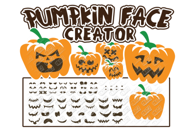 Pumpkin Face SVG Halloween in SVG/DXF/PNG/JPG/EPS
