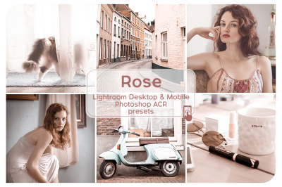 Rose Lightroom Desktop and Mobile Presets