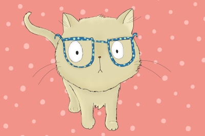 Cat with Glasses | Clip Art lllustration PNG/JPEG