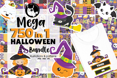 750 in 1 - Graphic Halloween Bundle