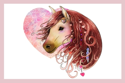 Love Horse | Clip art illustration JPG/PNG