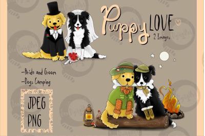 Puppy Love | Clip art illustrations PNG/JPEG