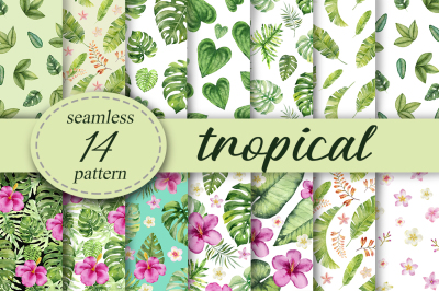 Tropical seamless patterns.