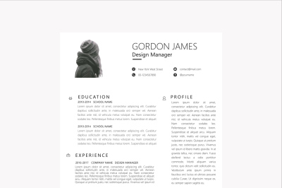 Clean Businessman Resume Template