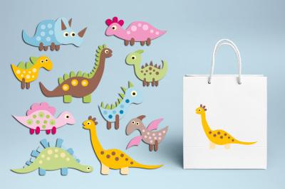 Baby Dinosaur Pastel Color - Cute Dino Graphics