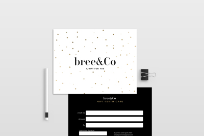 bree double sided gift certificate template