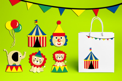 Circus clipart graphics and illustrations