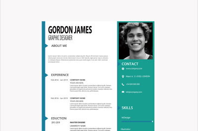 Professional Businessman Resume Template