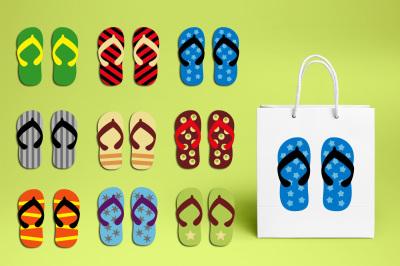 Flip flop sandal for boys clipart graphics