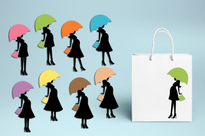 Mom to be umbrella clipart, Baby shower graphics