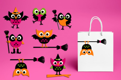 Owl Halloween clip art graphics and illustrations
