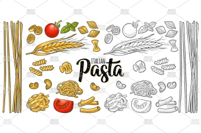Different types ITALIAN PASTA