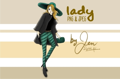 Fashion Lady | Clip art illustration PNG JPEG