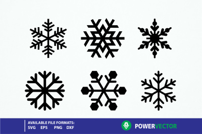 Snowflakes svg, winter Cut files