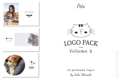 Logo Pack Volume 3. Pets